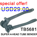 SUPER 4-HEAD TUBE BENDER TB5681